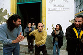 small group of men stock photography | Spain, Jerez, Flamenco outside Pe�a Antonio Chacon, image id 1-201-78