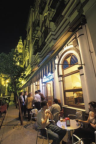 image 1-250-59 Spain, Seville, Restaurant at night, Cerveceria Giraldo