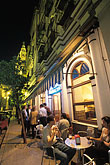 outdoor cafe stock photography | Spain, Seville, Restaurant at night, Cerveceria Giraldo, image id 1-250-59
