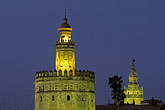 battlement stock photography | Spain, Seville, Torre del Oro, image id 1-252-97