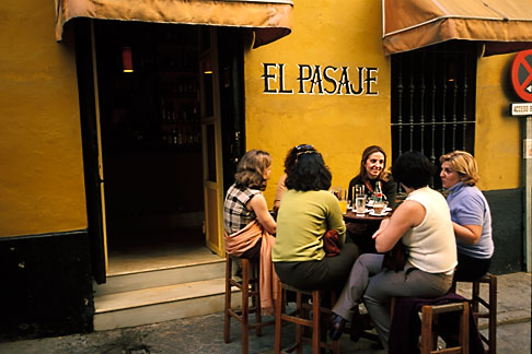 image 1-254-14 Spain, Seville, Cafe