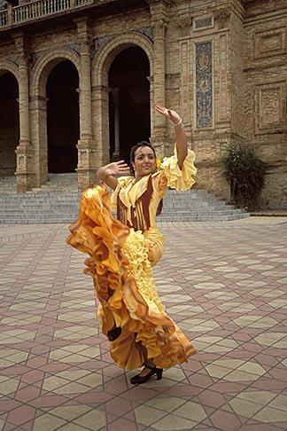 image 1-254-83 Spain, Seville, Flamenco dancer
