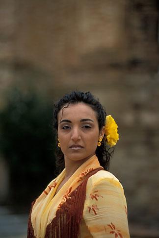 image 1-254-90 Spain, Seville, Flamenco dancer