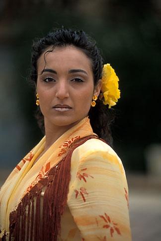 image 1-254-94 Spain, Seville, Flamenco dancer