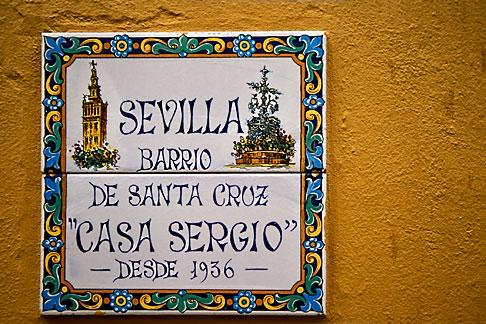 image 1-256-75 Spain, Seville, Barrio Santa Cruz