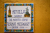 signs stock photography | Spain, Seville, Barrio Santa Cruz, image id 1-256-75