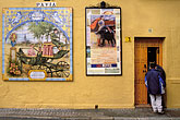 painted door stock photography | Spain, Seville, Street scene, image id 1-256-99