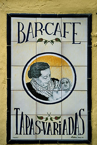 image 1-257-15 Spain, Seville, Tapas bar sign
