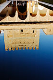 water stock photography | Spain, Granada, Reflection, Palacio Nazaries, The Alhambra, image id S4-540-9792
