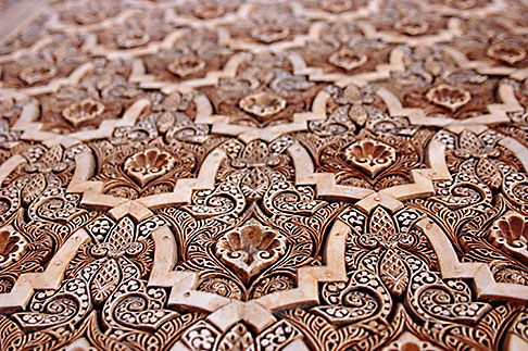 image S4-540-9823 Spain, Granada, Wall Detail, The Alhambra