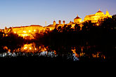 dusk stock photography | Spain, Cordoba, La Mezquita from across the Guadalquiver , image id S4-542-0492