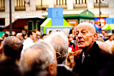 happy stock photography | Spain, Madrid, Man in crowd, image id S4-545-693
