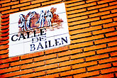 bailem stock photography | Spain, Madrid, Streetsign, image id S4-545-878