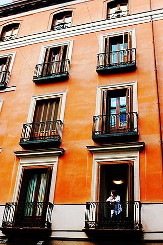 image S4-545-884 Spain, Madrid, Man on balcony