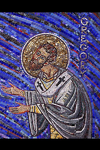 image 3-326-25 California, San Francisco, Mosaic of St Gregory, St Gregory Nyssen Church