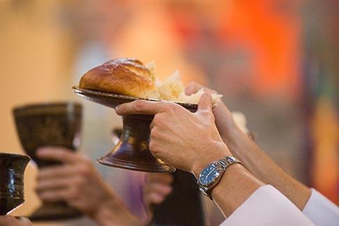 image 4-935-1299 California, San Francisco, Bread and Wine, Eucharist