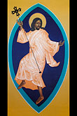 man stock photography | California, San Francisco, St. Gregory Nyssen Episcopal Church, Dancing Jesus icon by Mark Dukes, image id 4-960-6240