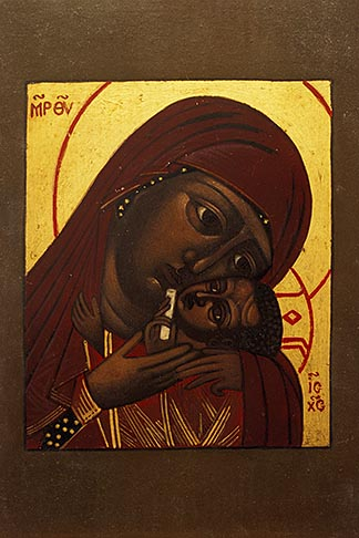 image 5-583-15 Icon of Madonna Mother of God of Tender Loving Kindness, by Mark Dukes