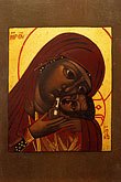 painting stock photography | California, San Francisco, Icon of Madonna Mother of God of Tender Loving Kindness, by Mark Dukes, image id 5-583-15