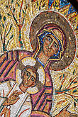 vertical stock photography | Religous Art, Mosaic of Mary and Jesus, image id 5-820-3260