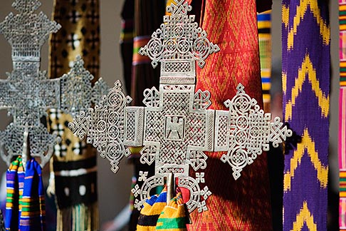 image 5-820-3734 Religious Art, Crosses and textiles
