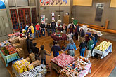 church stock photography | California, San Francisco, Church food pantry for homeless, image id 6-410-4135