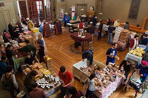 image 6-410-4224 California, San Francisco, Church food pantry for homeless