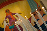 image 6-430-5191 California, San Francisco, Candles and icon