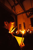 night stock photography | California, San Francisco, St Gregory Nyssen Church, Easter Vigil, image id 8-203-40