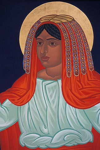 image 9-556-96 California, San Francisco, Icon of Miriam, St Gregory Nyssen Episcopal Church by Mark Dukes