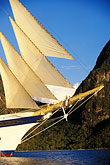 vertical stock photography | St. Lucia, Soufri�re, Royal Clipper and Gros Piton, image id 3-620-14