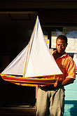 one hand stock photography | St. Vincent, Bequia, Port Elizabeth, Model boat maker, image id 3-610-60