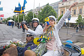 parade stock photography | Sweden, G�teborg, Celebration of High School Graduation, image id 5-700-2151