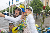 parade stock photography | Sweden, G�teborg, Celebration of High School Graduation, image id 5-700-2153