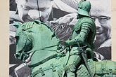 opposed stock photography | Sweden, G�teborg, Statue of horseman, image id 5-700-4635