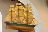 sailing ship stock photography | Sweden, G�teborg, Model ship in Masthuggskyrkan, image id 5-700-4650