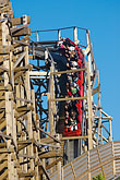 people stock photography | Sweden, G�teborg, Rollercoaster, Liseberg Amusement Park, image id 5-700-4690