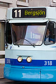 blue stock photography | Sweden, G�teborg, Tram, image id 5-700-4935