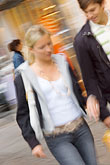 woman walking stock photography | Sweden, G�teborg, Street scene, image id 5-700-4947