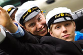 parade stock photography | Sweden, G�teborg, Celebration of High School Graduation, image id 5-700-5041