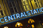 neon lights stock photography | Sweden, G�teborg, Central Station, image id 5-700-5858