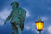illuminated stock photography | Sweden, G�teborg, Statue of King Gustav Adolf, image id 5-700-5861