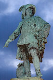 lit stock photography | Sweden, G�teborg, Statue of King Gustav Adolf, image id 5-700-5865