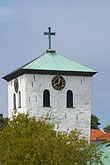 white cross stock photography | Sweden, Marstrand, Church tower, image id 5-710-2356