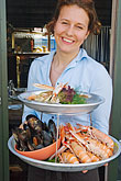 lady stock photography | Sweden, West Sweden, Seafood platter, image id 5-710-2515