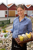 lady stock photography | Sweden, West Sweden, Seafood platter, image id 5-710-5472