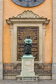 city stock photography | Sweden, Stockholm, Gamla Stan, Statue of Gustav III, image id 5-720-2624