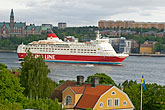harbour stock photography | Sweden, Stockholm, Cruise ship, image id 5-720-2728