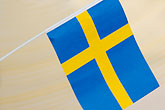 banner stock photography | Sweden, Stockholm, Swedish flag, image id 5-720-2749