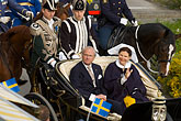 carriage stock photography | Sweden, Stockholm, King Carl Gustaf XVI and Queen Silvia , image id 5-720-2777